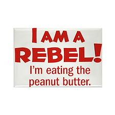 Food Rebel Rectangle Magnet