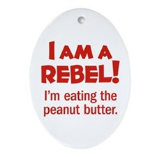 Food Rebel Oval Ornament
