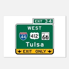 Tulsa, OK Highway Sign Postcards (Package of 8)