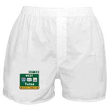Tulsa, OK Highway Sign Boxer Shorts