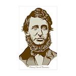 Henry David Thoreau Rectangle Sticker 50 pk)