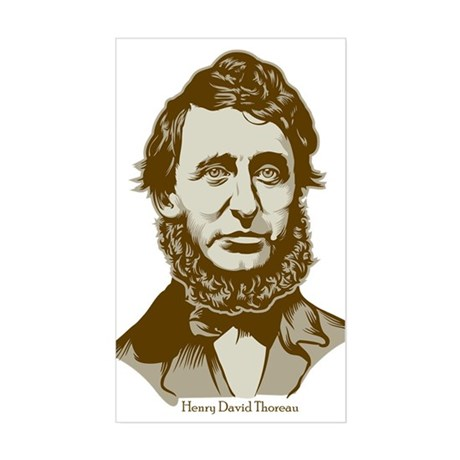 Henry David Thoreau Rectangle Sticker