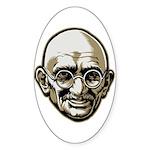 Mahatma Gandhi Oval Sticker (50 pk)