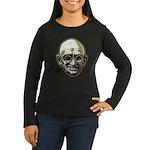 Mahatma Gandhi Women's Long Sleeve Dark T-Shirt