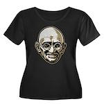 Mahatma Gandhi Women's Plus Size Scoop Neck Dark T