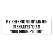 Smart My Bernese Mountain Dog Bumper Bumper Sticker