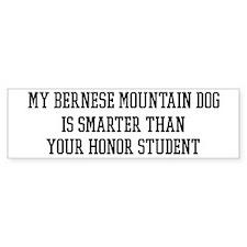 Smart My Bernese Mountain Dog Bumper Car Sticker