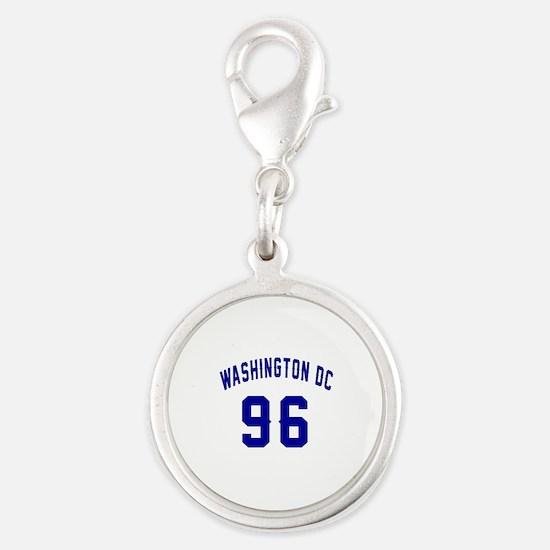Washington Dc 96 Silver Round Charm