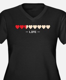 zelda hyrule life hearts Women's Plus Size V-Neck