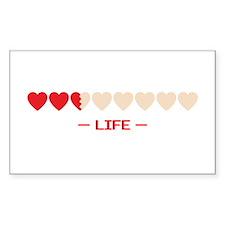 zelda hyrule life hearts Rectangle Decal