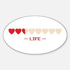 zelda hyrule life hearts Oval Decal