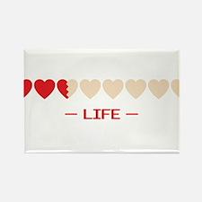 zelda hyrule life hearts Rectangle Magnet