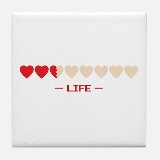 zelda hyrule life hearts Tile Coaster