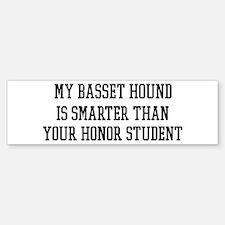 Smart My Basset Hound Bumper Bumper Bumper Sticker