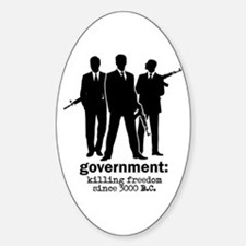 Government: Killing Freedom Oval Decal