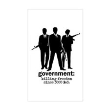 Government: Killing Freedom Rectangle Decal