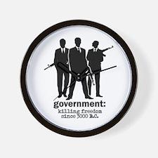 Government: Killing Freedom Wall Clock