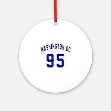 Washington Dc 95 Round Ornament