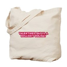 Red Pink Anti-Valentines Day Tote Bag