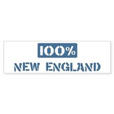 100 Percent New England Bumper Bumper Sticker