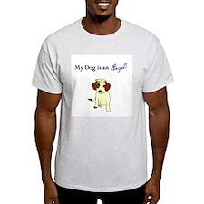 Angel Devil Dog Ash Grey T-Shirt
