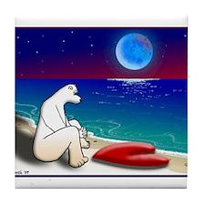 BLUE MOON BEAR Tile Coaster