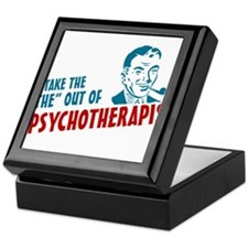 i take the the out of psychotherapist Keepsake Box