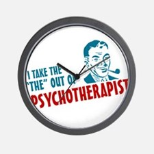 i take the the out of psychotherapist Wall Clock