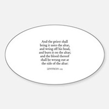 LEVITICUS 1:15 Oval Decal