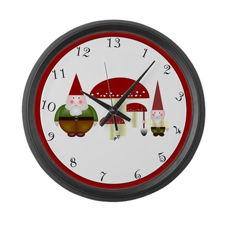 13hr Gnomes Large Wall Clock