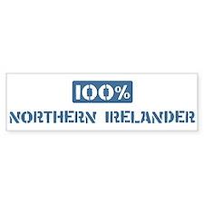 100 Percent Northern Irelande Bumper Car Sticker