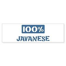 100 Percent Javanese Bumper Bumper Sticker