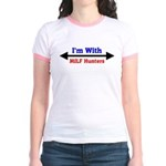 I'm With MILF Hunters Jr. Ringer T-Shirt