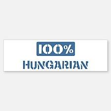 100 Percent Hungarian Bumper Sticker (10 pk)