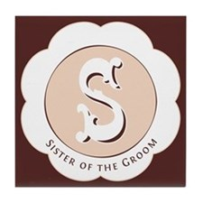 Market Sister of the Groom Tile Coaster
