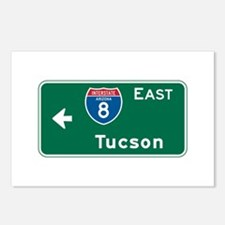 Tucson, AZ Highway Sign Postcards (Package of 8)