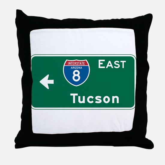 Tucson, AZ Highway Sign Throw Pillow