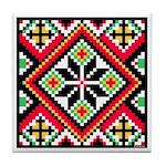 Folk Design 1 Tile Coaster