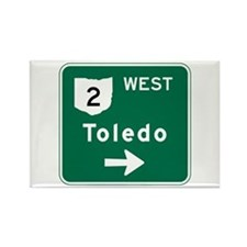 Toledo, OH Highway Sign Rectangle Magnet