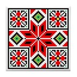 Folk Design 3 Tile Coaster