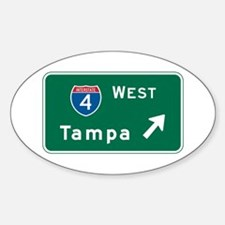 Tampa, FL Highway Sign Oval Decal