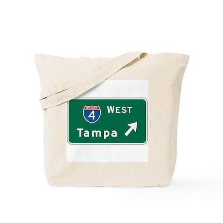 Tampa, FL Highway Sign Tote Bag