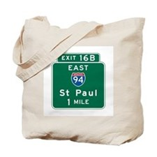 St. Paul, MN Highway Sign Tote Bag