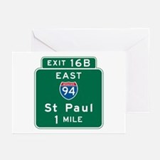 St. Paul, MN Highway Sign Greeting Cards (Pk of 10