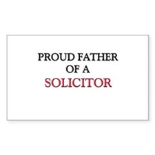 Proud Father Of A SOLICITOR Rectangle Decal