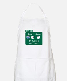 St. Louis, MO Highway Sign BBQ Apron