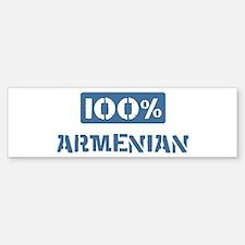 100 Percent Armenian Bumper Bumper Bumper Sticker
