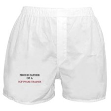 Proud Father Of A SOFTWARE TRAINER Boxer Shorts