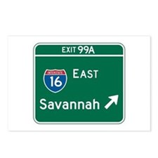 Savannah, GA Highway Sign Postcards (Package of 8)