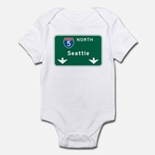 Seattle, WA Highway Sign Infant Bodysuit